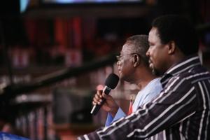 Prophet TB Joshua with President John Atta Milla