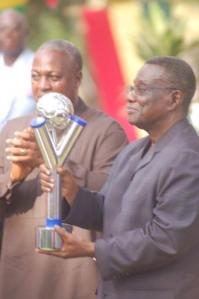 President Atta Mills with the U20 Cup