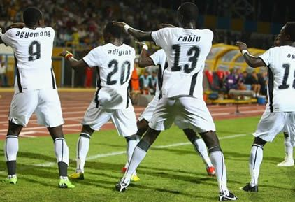 The Black Satellites in wild celebration