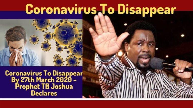 coronavirus, tb joshua